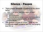 silence pauses