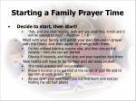 starting a family prayer time