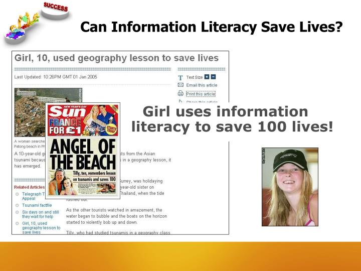 Can Information Literacy Save Lives?