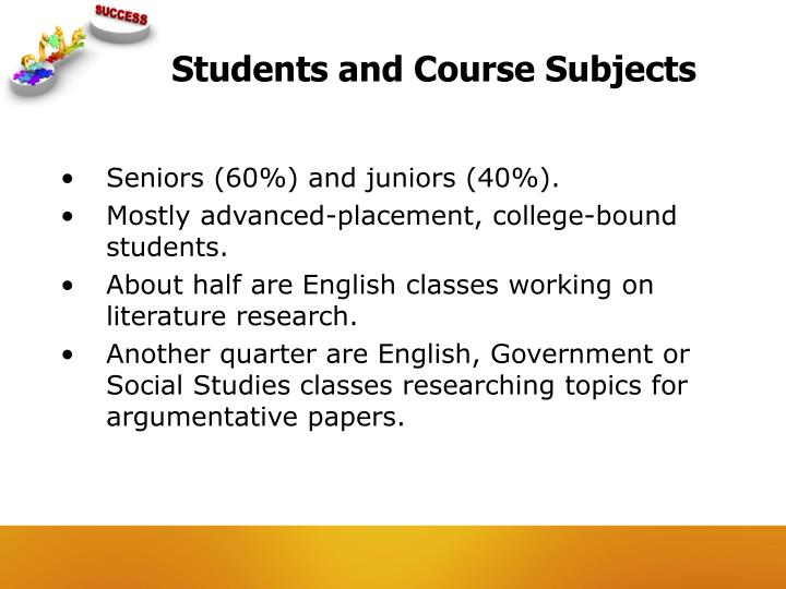 Students and Course Subjects