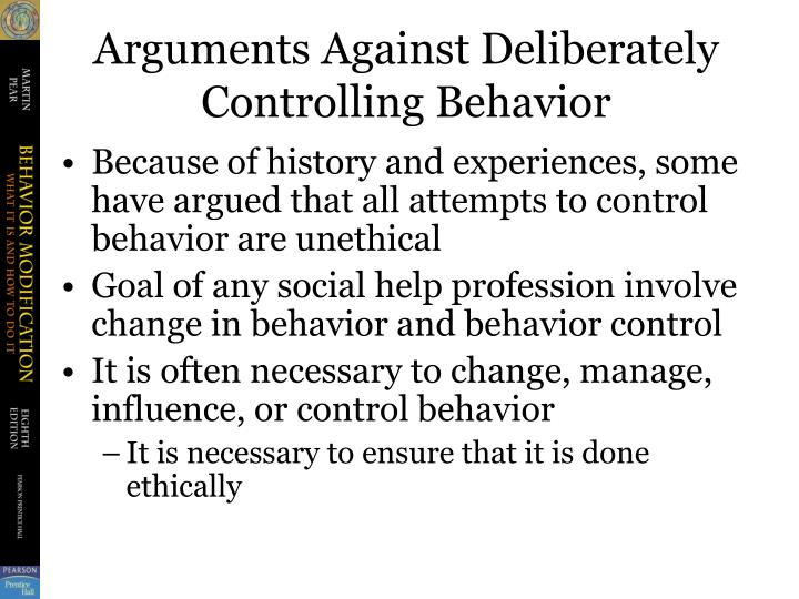 how to change controlling behavior