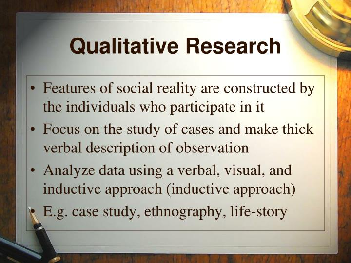 qualitative observational research Qualitative research uses observation as the data collection method observation is the selection and recording of behaviors of people in their environment observation is useful for generating in-depth descriptions of organizations or events, for obtaining information that is otherwise inaccessible, and for conducting research when other.