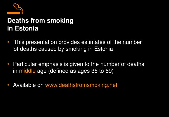 Deaths from smoking in estonia