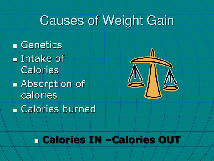 Causes of w eight gain