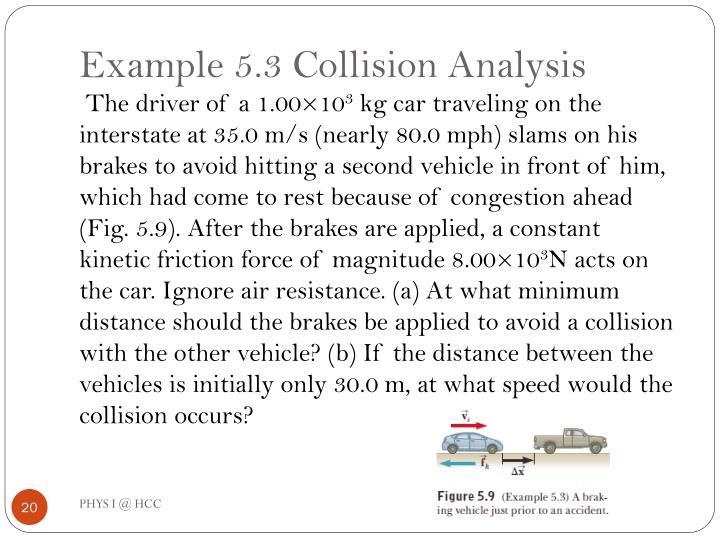 Example 5.3 Collision Analysis