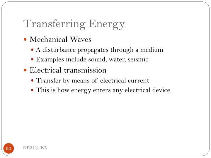 Transferring Energy