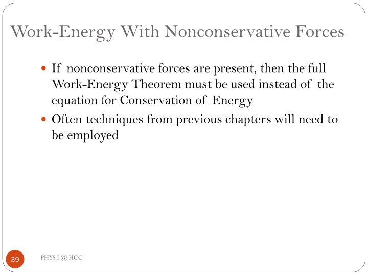 Work-Energy With