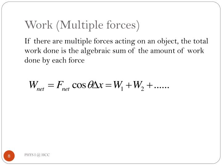 Work (Multiple forces)