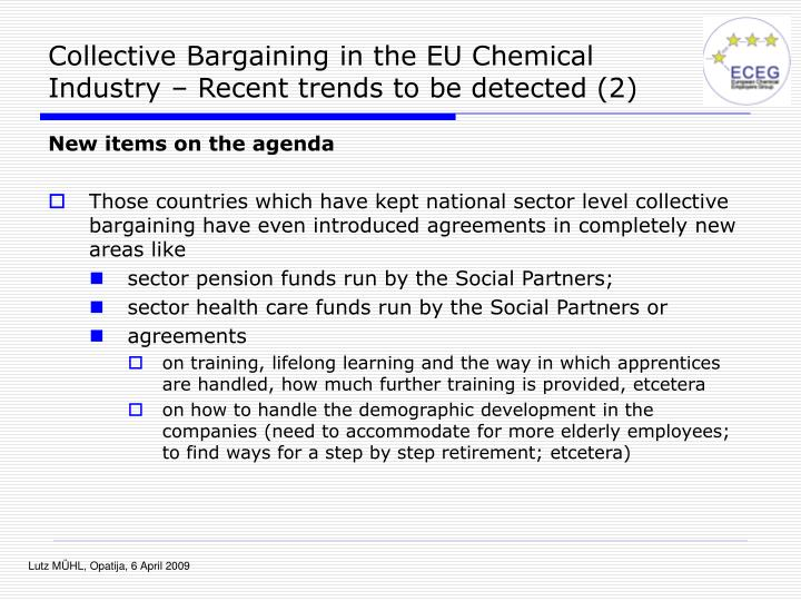 Collective Bargaining in the EU Chemical Industry – Recent trends to be detected (2)