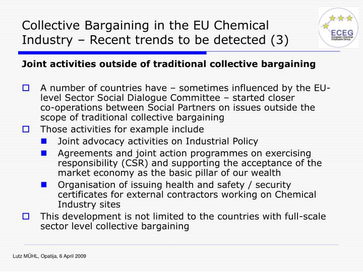 Collective Bargaining in the EU Chemical Industry – Recent trends to be detected (3)