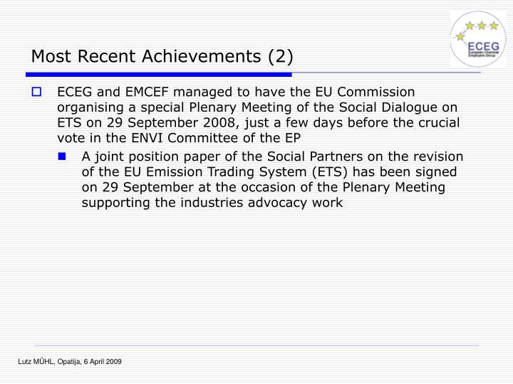 Most Recent Achievements (2)