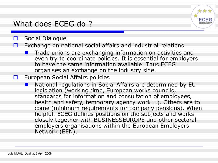 What does ECEG do ?