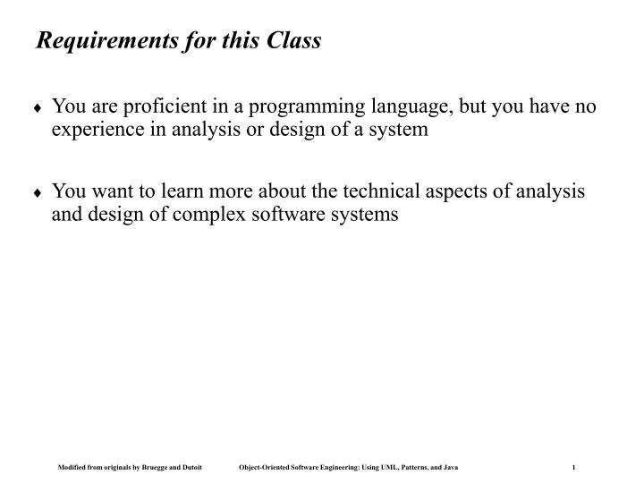 requirements for this class n.