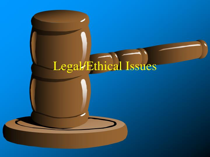 legal ethical issues n.