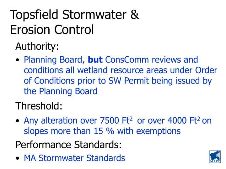 Topsfield Stormwater &