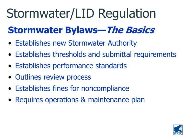 Stormwater/LID Regulation