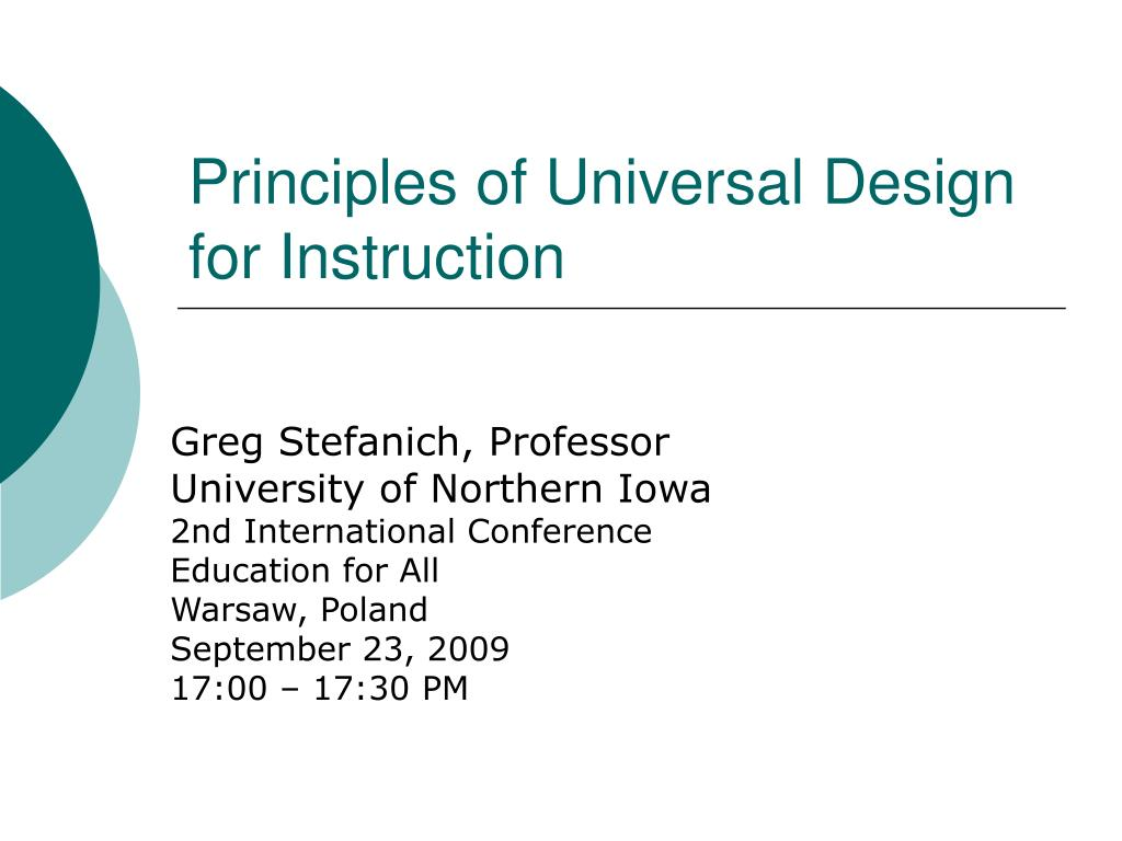Ppt Principles Of Universal Design For Instruction Powerpoint Presentation Id 1791267