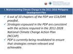 i mainstreaming climate change in the 2011 2016 philippine development plan