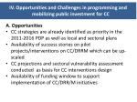 iv opportunities and challenges in programming and mobilizing public investment for cc