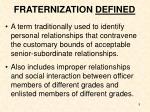 fraternization defined