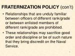 fraternization policy con t