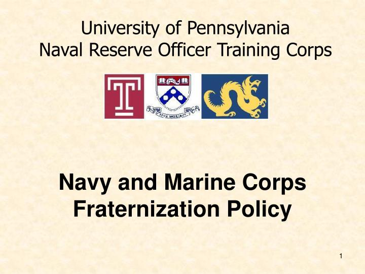 navy and marine corps fraternization policy n.