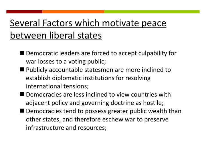 what is the liberal peace thesis Girard poses a challenge to the democratization for peace thesis the liberal democratic peace theory the most widely accepted theory in international.