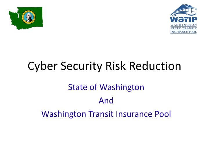 cyber security risk reduction n.
