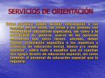 servicios de orientaci n