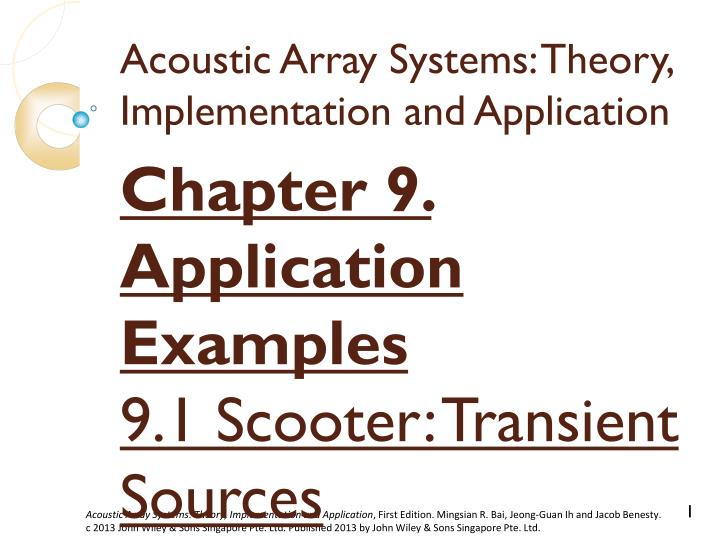 acoustic array systems theory implementation and application n.