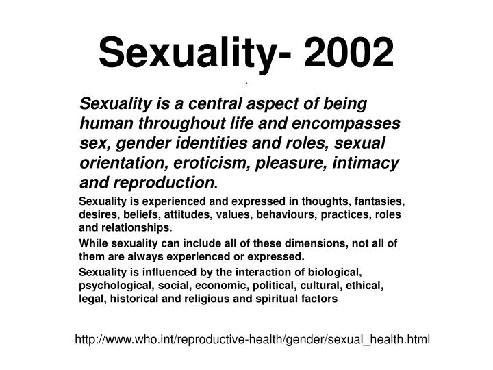 Sexuality- 2002