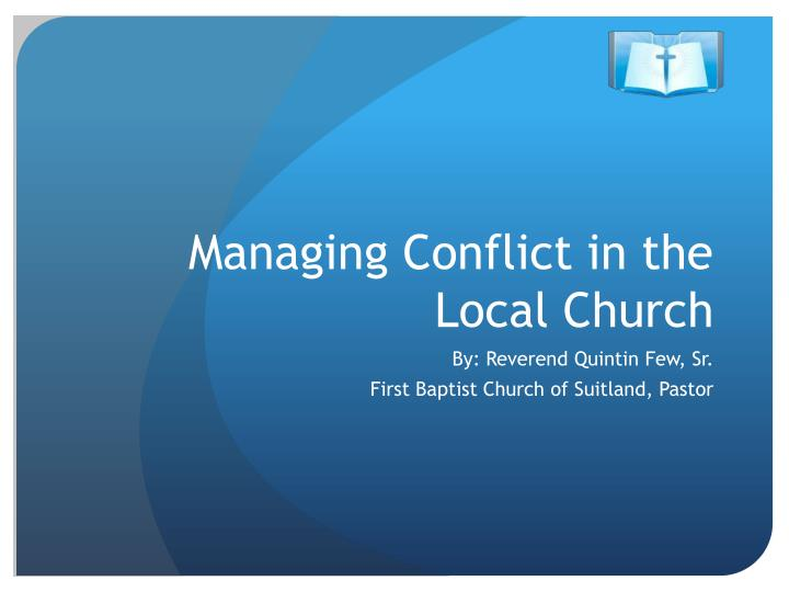 managing conflict in the local church n.