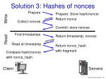 solution 3 hashes of nonces
