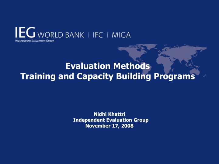 evaluation methods training and capacity building programs n.