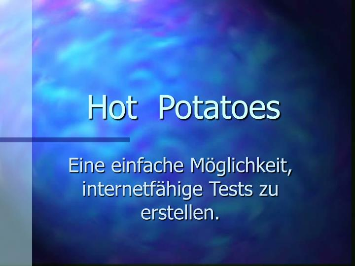 hot potatoes n.