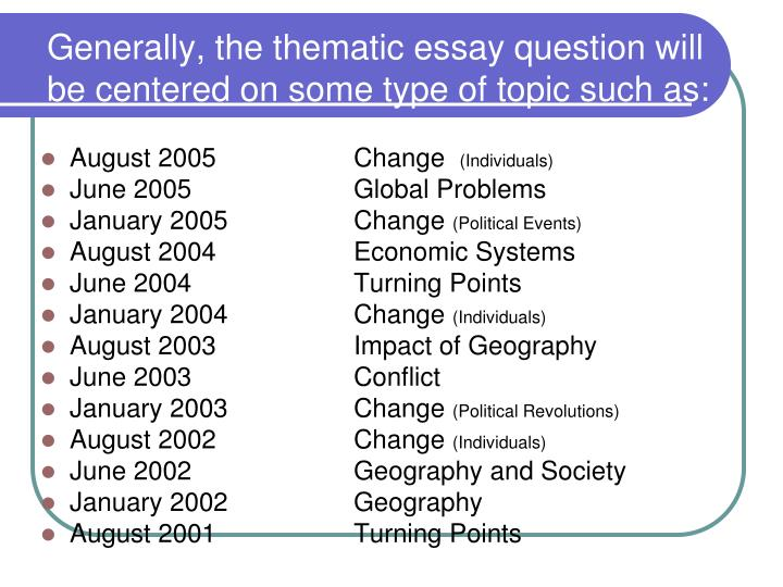 august 2004 thematic essay Multiple choice [ part i] thematic essay august 2004 reform movements westward expansion link to wed, 07 mar 2018 22:16:00 gmt regents … state essay.