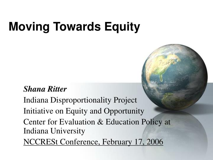 moving towards equity n.