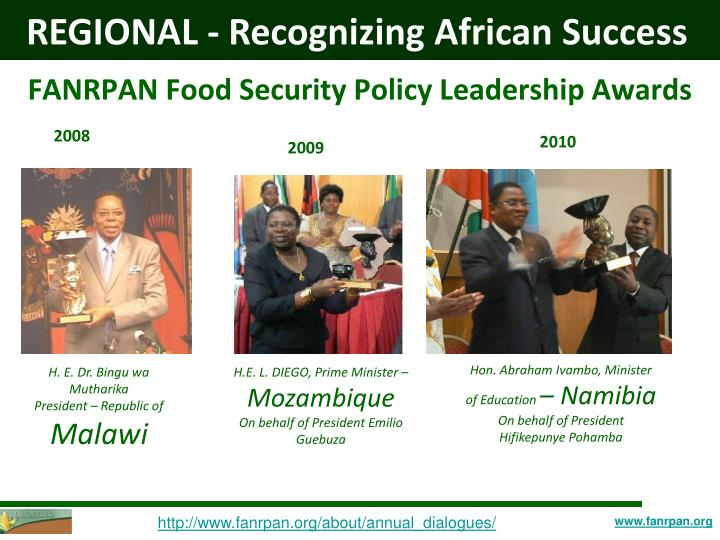 FANRPAN Food Security Policy Leadership Awards