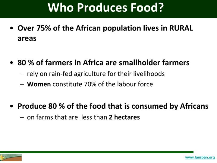 Who Produces Food?