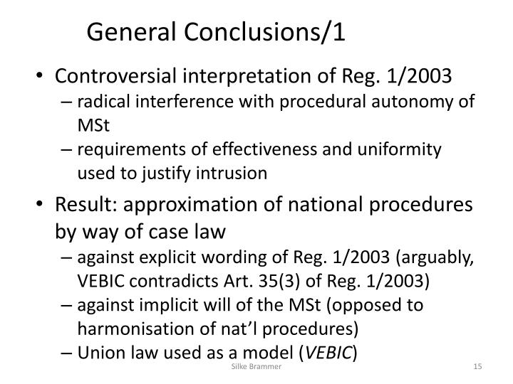 General Conclusions/1
