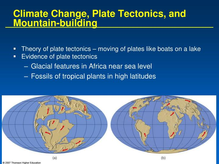 Climate Change, Plate Tectonics, and Mountain-building