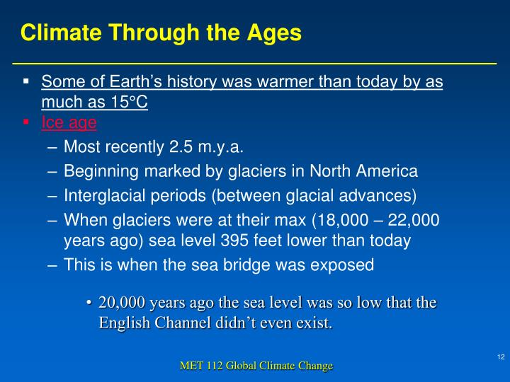 Climate Through the Ages