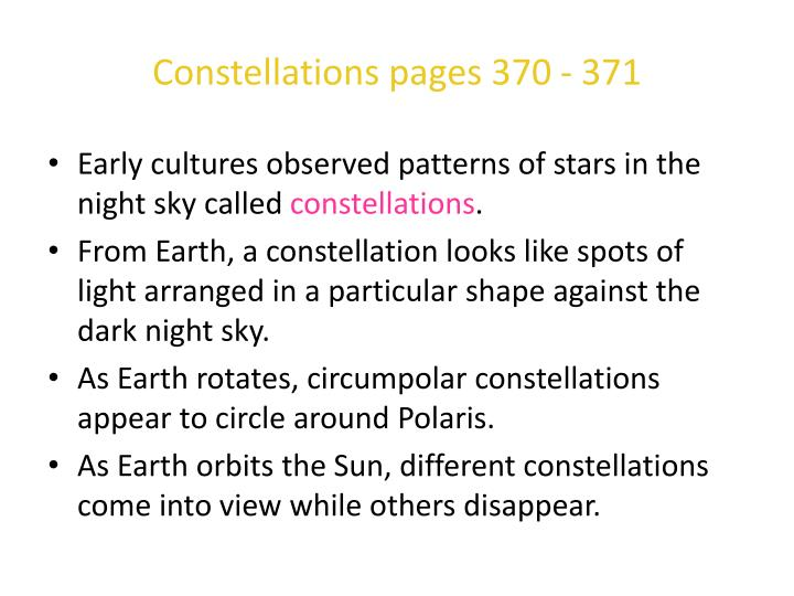 Constellations pages 370 - 371
