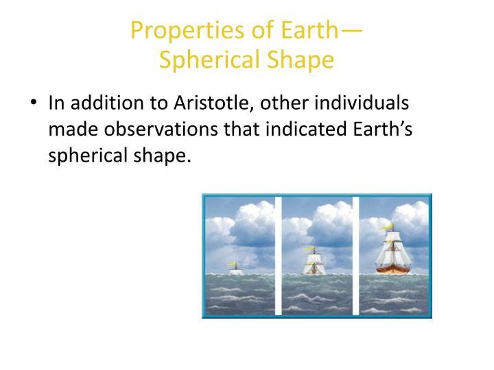 Properties of earth spherical shape2