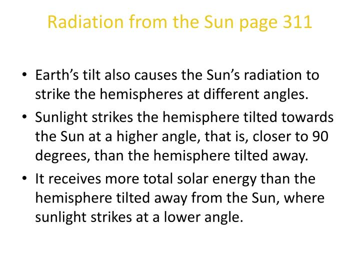 Radiation from the Sun page 311
