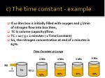c the time constant example