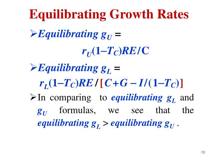 Equilibrating Growth Rates