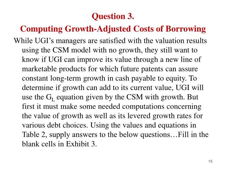 Question 3.