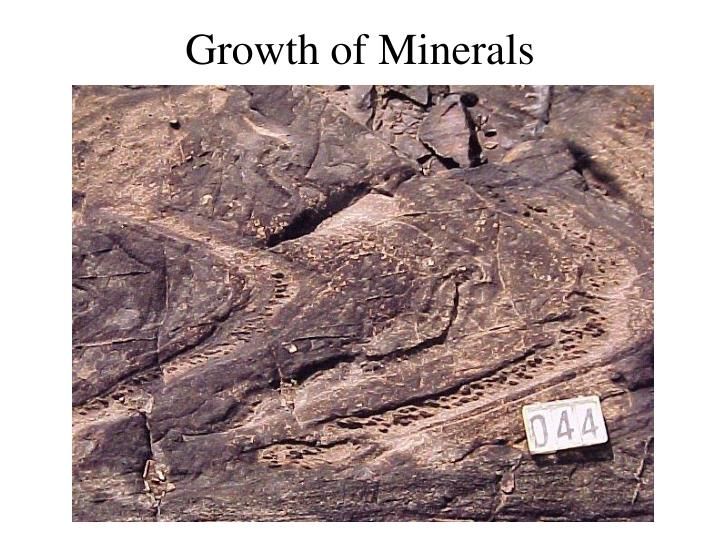 Growth of Minerals
