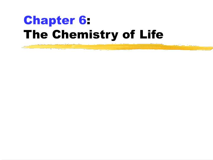 chapter 6 the chemistry of life n.